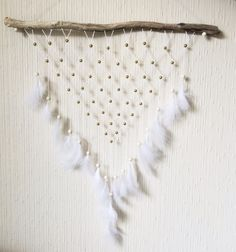 Dreamcatcher wallhanging diy feathers driftwood boho bohemian