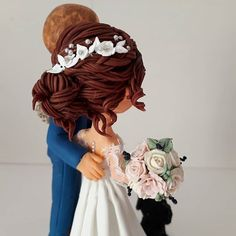 Wedding Cake Toppers, Wedding Cakes, Spring Wedding, Our Wedding, Clay Design, Head Accessories, Cold Porcelain, Fondant, Groom