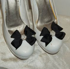 Black Shoe Clips Girls Teens Prom Dance Easter by ShoeClipsOnly, $12.00