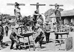 Austrian soldiers hanging Slavs (maybe serbian) POW. WWI.