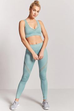 Look and feel your best in Forever 21 activewear and workout clothes for women! Get fit in our sports bras, leggings, shorts, crop tops & more. Womens Workout Outfits, Sport Outfits, Yoga Outfits, Mesh Panel Leggings, Fitness Fashion, Fitness Clothing, Workout Clothing, Yoga Wear, Latest Trends