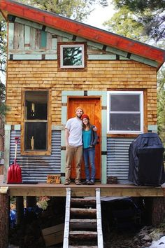 tim and hannahs diy tiny cabin 001 Young Couple Build Mortgage free, Off Grid Micro Cabin