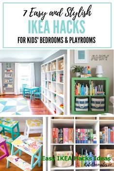 These are the best ikea hacks for kids rooms! hacks kids playroom 7 Stylish and Easy IKEA Hacks for Kids Playrooms or Kids Bedrooms Ikea Playroom, Ikea Kids Room, Playroom Ideas, Kids Playroom Storage, Ikea For Kids, Hacks For Kids, Kid Room Storage, Ikea Toddler Room, Small Playroom