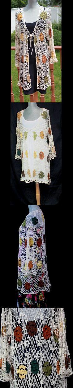 Estilo Boho Hippie Lace Jacket Floral Vintage.