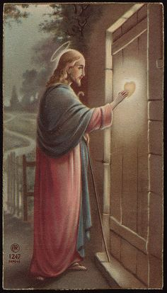 Heart speaks to heart! Notice there is no handle on the outside of the door of our hearts.  We must open it to Jesus from the inside.