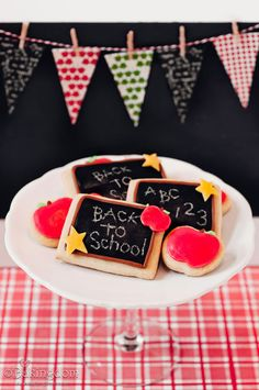 Back to School Chalkboard Cookies #projectlunchbox