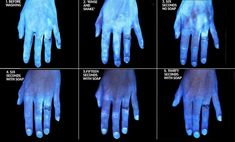 Frozen actress Kristen Bell shared a series of images using a UV light to show the levels of germs on our hands before and after they are properly washed with warm water and soap