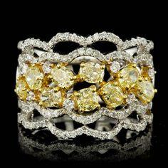 18K Yellow & White Gold 2.85CT Diamond Ring