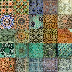 Arabesque- a scrolling plant motif derived from Islamic art and architecture. Cultural Patterns, Islamic Patterns, Tile Patterns, Textures Patterns, Islamic Designs, Star Patterns, Wallpaper Patterns, Islamic Tiles, Islamic Art