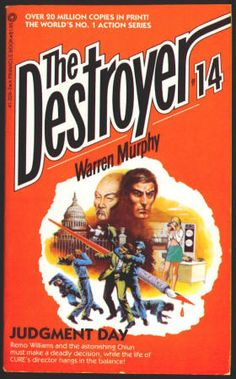 THE DESTROYER by Richard Sapir and Warren Murphy. #14 JUDGMENT DAY: Paperback, FN+, (Published 1974) February 1981, 7th Printing, Pinnacle Books, $5