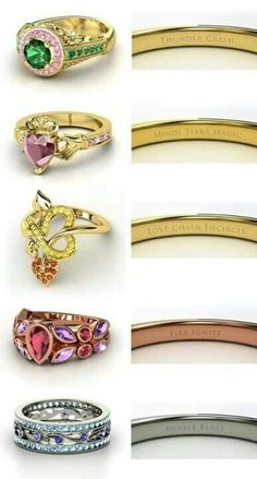 remember the film? sailor moon this is their rings