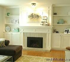 Image result for how to build a fireplace surround over existing brick