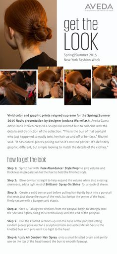 Love the Novis knotted bun shown at #NYFW? Here's how to get the look.