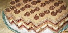 My Recipes, Cooking Recipes, Cake Bars, Hungarian Recipes, Cake Cookies, Tiramisu, Food To Make, Food And Drink, Sweets