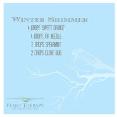 WinterShimmer I am always looking for fun, new diffuser blends when I am having company. I hope some of these will set the Homemade Essential Oils, Essential Oil Uses, Doterra Essential Oils, Natural Essential Oils, Plant Therapy, Essential Oil Diffuser Blends, Winter, Diffuser Recipes, Essentials