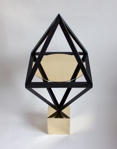 Geometry is God by Material Lust - Design Milk Geometric Furniture, Design Furniture, Table Furniture, Contemporary Furniture, Assemblage, Copper And Brass, Alchemy, Home Furnishings, Modern Design