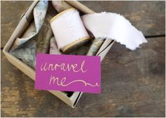 Top 10 DIY Invitations For Your Bridemaids. I like it.  *unravel the note from the lip gloss.