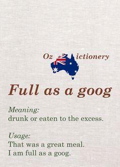 Aussie slang of my parent's generation.