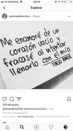 Cute Quotes, Sad Quotes, Book Quotes, Spanish Inspirational Quotes, Spanish Quotes, Love Phrases, Love Words, Magic Quotes, Quotes En Espanol