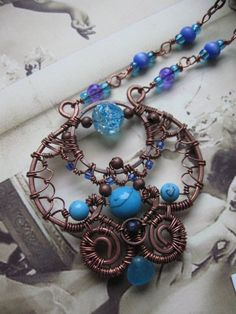 Wire wrapped copper necklace by Lirimaer86 on deviantART