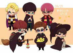 #VIXX #N #Leo #Ken #Ravi #Hongbin #Hyuk #Starlights #Cute #Rovix #Kpop #Cartoon #Art Vixx Wallpaper, Vixx Members, Ravi Vixx, Kpop, Chibi, Fan Art, Cartoon Art, Cute, Anime
