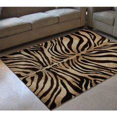 Home Dynamix Tribeca Black/Ivory 5 ft. x 7 ft. Indoor Area Rug - The Home Depot Colorful Decor, Colorful Rugs, Area Rug Sizes, Area Rugs, Animal Print Decor, Safari Decorations, Lodge Style, Tropical Style, Rectangular Rugs