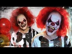 Evil Clown - Halloween Makeup Tutorial! - YouTube                                                                                                                                                                                 Más