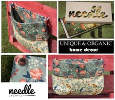 """WALLBAG """"Granny's Home""""- - decorate your home and use this bag to store the little things everyone has. Handmade with certified organic cotton. Home Flowers, Timeless Design, Decorating Your Home, Storage Spaces, Organic Cotton, Satchel, Things To Come, Store, Handmade"""