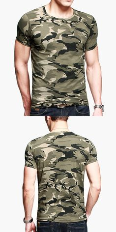 US$12.39 + Free shipping.Men's Military Cotton T-shirt, Material: 100%Cotton. S-XL. Occasion: Casual, Sport, Outdoor.