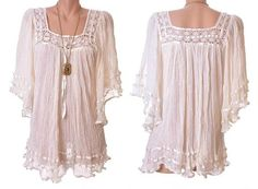 a0b9d0bac40 Natural Princess Bohemian Mexican Crochet Tunic Bell Sleeves Plus Clothing,  Gypsy Girls, Crochet Tunic