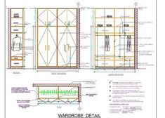 Autocad drawing of a duplex house shows space planning of 1 bhk house in plot size designed on Ground and First Floor. The drawing shows floor layout plan. Autocad, Wall Panel Design, Partition Design, Window Design, Wardrobe Internal Design, Wooden Wardrobe, Small Wardrobe, Wardrobe Storage, Sliding Wardrobe