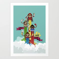 Street Fighter 25th Anniversary!!! Art Print by Ed Warner - $16.00