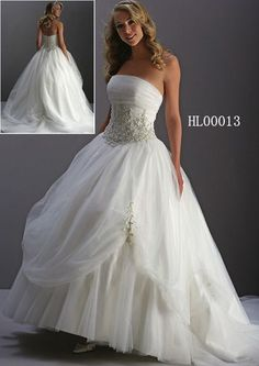 ruched strapless tulle wedding ball gown
