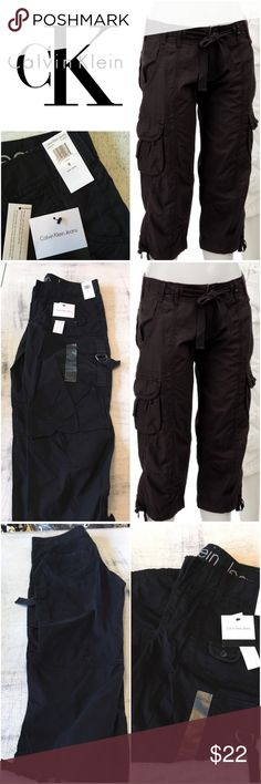 New Calvin Klein Black Cropped Cargo Pants New with tags, Calvin Klein Black Cropped Cargo Pants  Size 8. True to size. Some stretch.   Originally bought for a client, I'm currently cleaning out my client closets. Open to offers, especially on bundles. I give 15% off bundles of 3+. Shipping cost is the same with one or multiple items.   Free gift with every purchase! Your purchase goes towards the non-profit organization I'm founding! <3 Calvin Klein Pants Ankle & Cropped