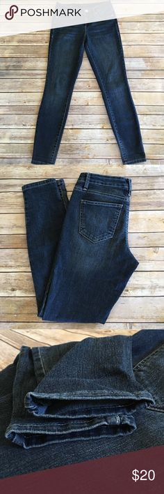 Nine West Skinny Cigarette Fit This denim is super soft! Perfect condition, no flaws! Dark blue wash. Inseam 29 in. Front rise is 8 3/8in. Nine West Jeans Skinny