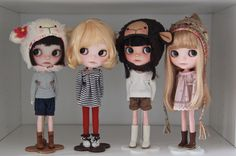 blythedolls:  the Vainilladollies. (by Simmi.)