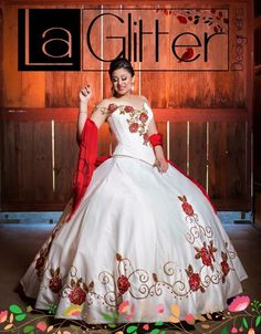 Red perfect mexican dress quinceanera quince pretty
