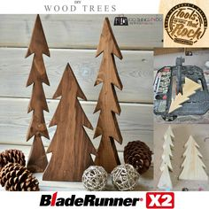 DIY Wood trees