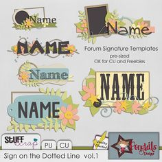 Sign on the Dotted Line Vol.1 by Ponytail Designs