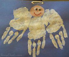 handprint angel craft for kids
