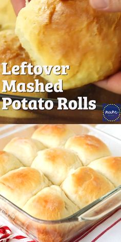 Leftover Mashed Potato Rolls are a sweet and delicious way to use up any flavor of leftover mashed potatoes. Our favorite way to use up leftovers! recipes no yeast videos Leftover Mashed Potato Rolls Leftover Mashed Potatoes, Mashed Potato Recipes, Mashed Potato Cakes, Leftover Ham, Bread Machine Potato Bread Recipe, Irish Potato Bread, Bread Recipe Video, Bread Dough Recipe, Best Bread Recipe