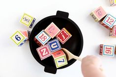 creative play with blocks.