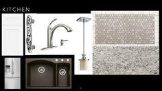 Collage 4 - tile, quartz, pull, pendant, composite sink Composite Sinks, Design Boards, Tile, Quartz, Collage, Pendant, Kitchen, Inspiration, Home Decor
