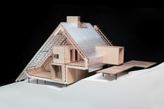 A model of a house.