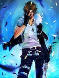 Squall Leonhart. Fan art. Final Fantasy VIII.