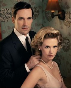 Jon Hamm & January Jones - what a great couple in the series.