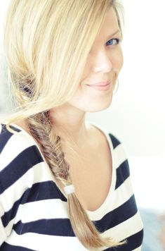 another fishbone braid. I really need to try doing this as a whole head/french braid sometime....