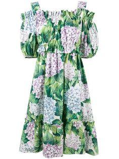 платье с гортензиями