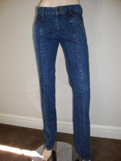 "Louis Vuitton Women's Straight Leg Slim Denim Blue ALTERED Jeans Size 31"" Waist #fashion i#LouisVuitton #jeans #DENIM #consignment #StraightLeg"