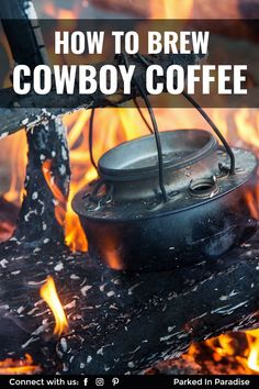 How to make cowboy coffee three ways. Plus 8 hacks for brewing coffee at a campsite. Electric Coffee Maker, Perfect Breakfast, Breakfast Ideas, Grilled Ham And Cheese, Ways To Make Coffee, Small Travel Trailers, Aeropress Coffee, Camping Coffee, Pour Over Coffee